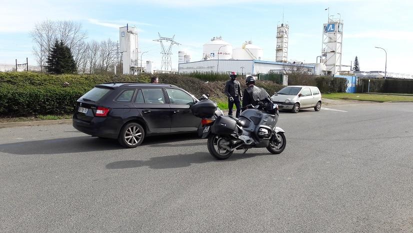 Moto sécurité privée