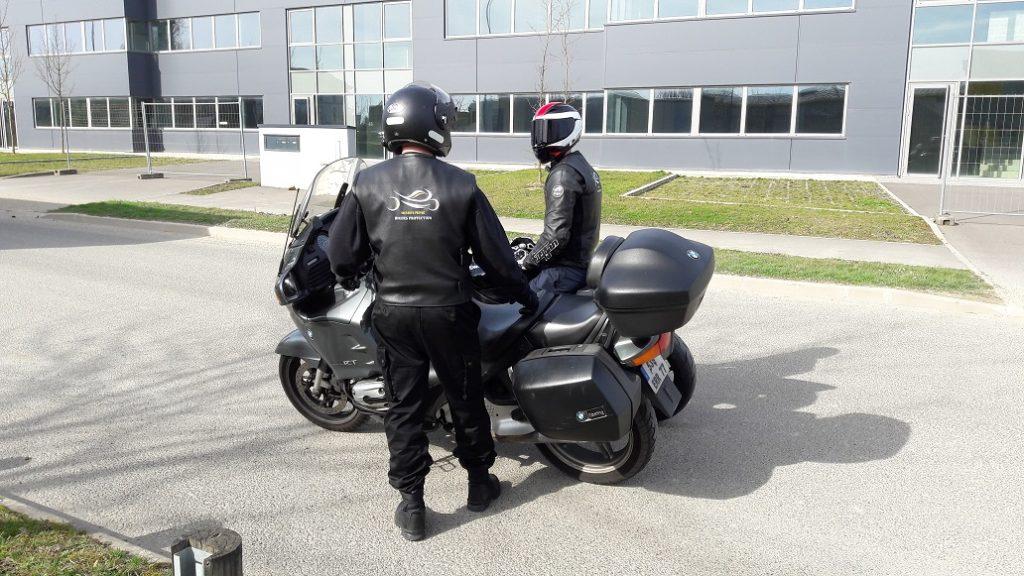 motard sécurité privée 77